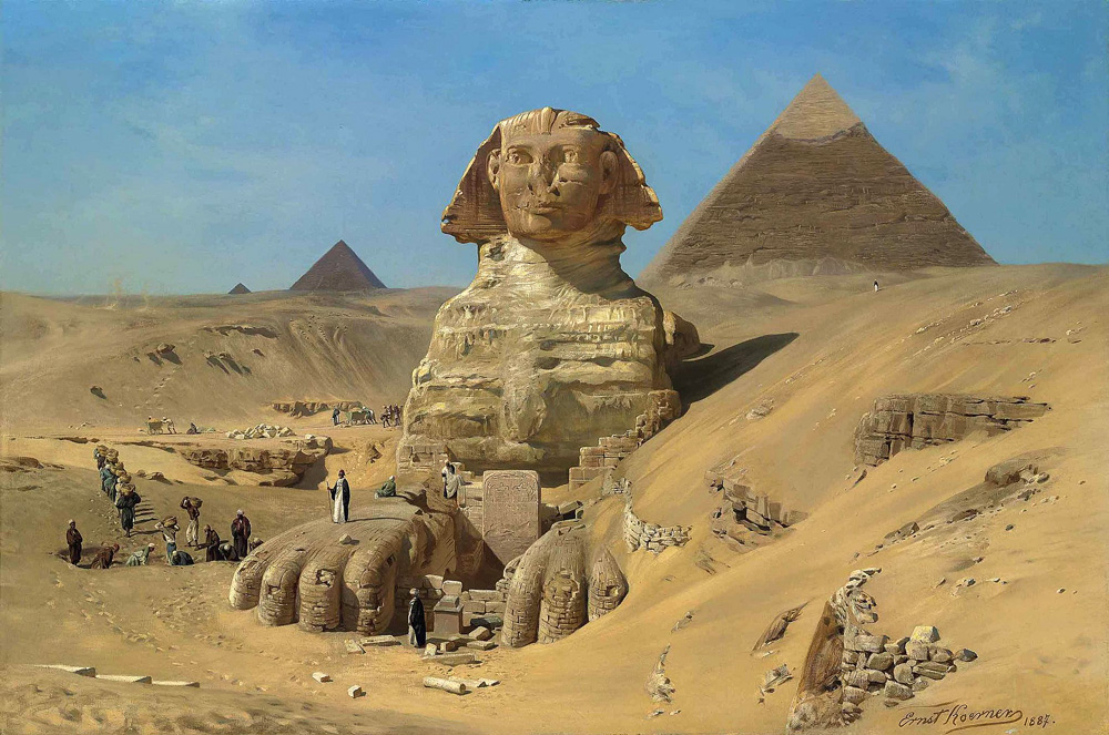 The Excavation of the Sphinx (1887) - Ernst Karl Eugen Koerner (German, 1846-1927)