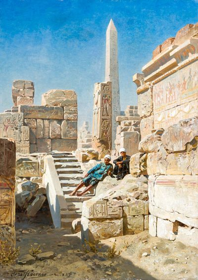 The Temple of Karnak (1889) - Ernst Karl Eugen Koerner (German, 1846-1927)