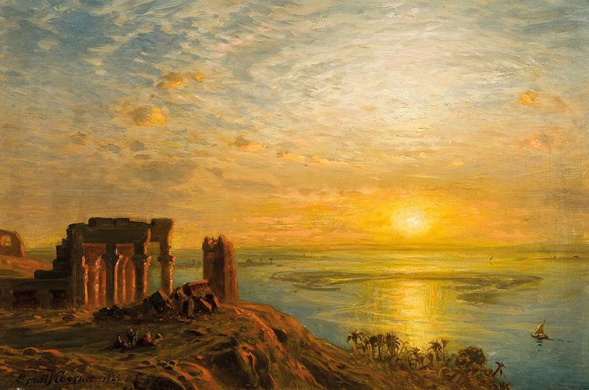 Kom Ombo, Egypt (1922) - Ernst Karl Eugen Koerner (German, 1846-1927)