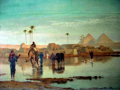 Nile Overflow - Frederick Goodall (British, 1822-1904)