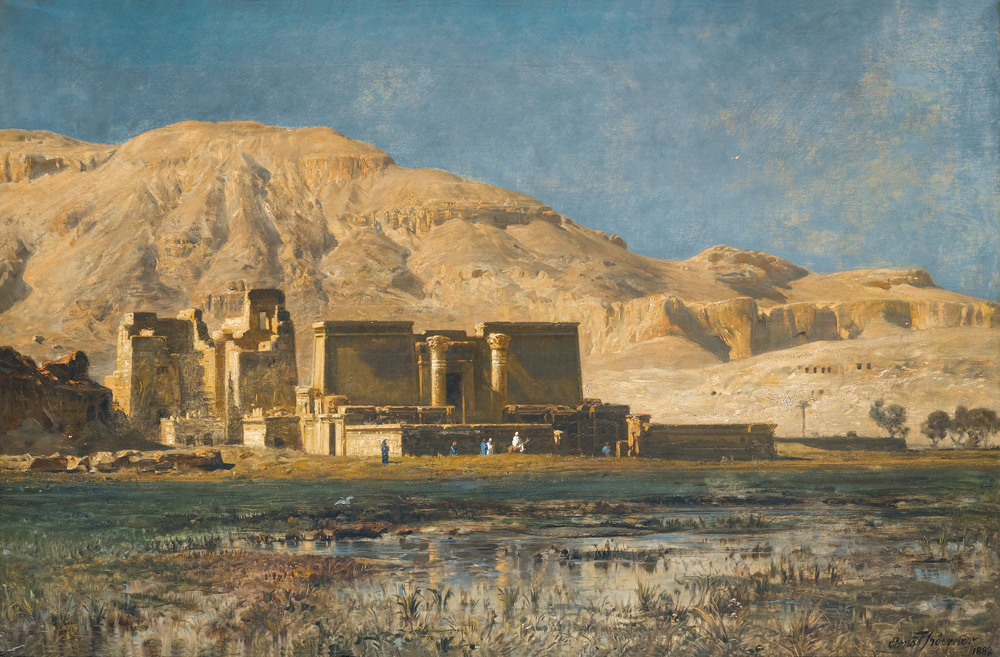 The Plain of Thebes (1882) - Ernst Karl Eugen Koerner (German, 1846-1927)