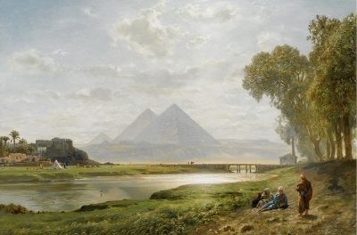 The Pyramids at Gizeh. Morning (1890) - Ernst Karl Eugen Koerner (German, 1846-1927)