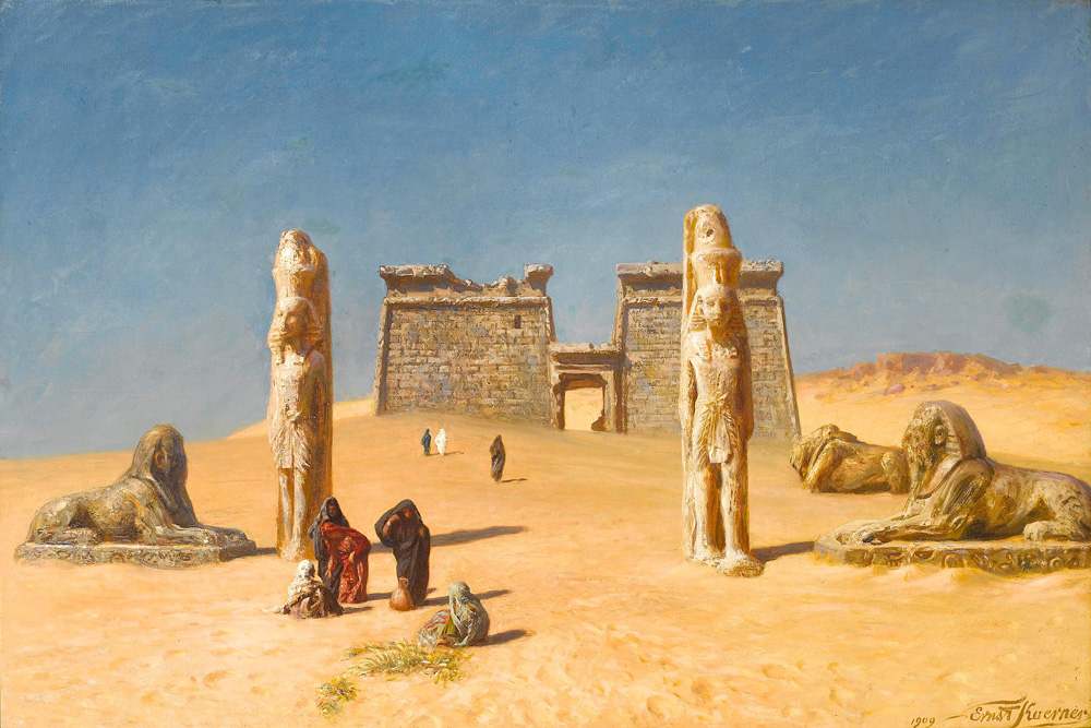 The Temple of Wadi Es-Sebua, Nubia - Ernst Karl Eugen Koerner (German, 1846-1927)