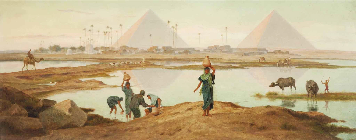 The Waters of the Nile, Egypt - Frederick Goodall (British, 1822-1904)