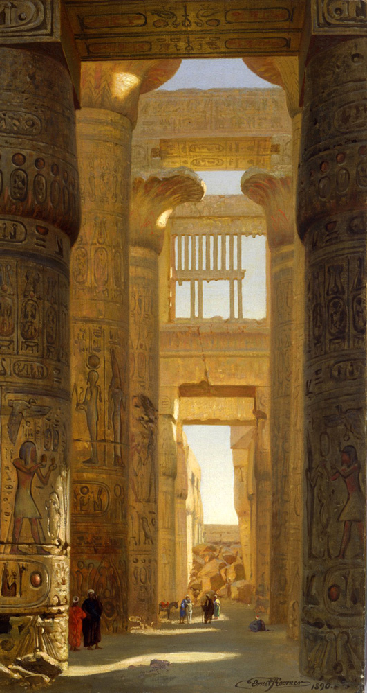 The Temple of Karnak, The Great Hypostyle Hall (1890) - Ernst Karl Eugen Koerner (German, 1846-1926)