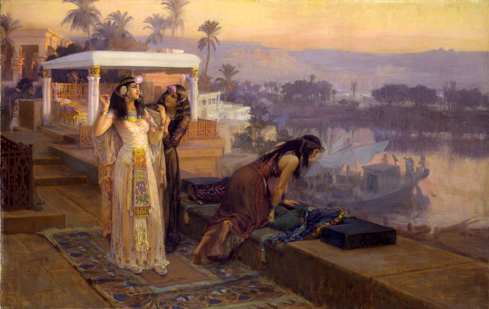 Cleopatra on the Terraces of Philae (1896) - Frederick Arthur Bridgman (American, 1847-1928)