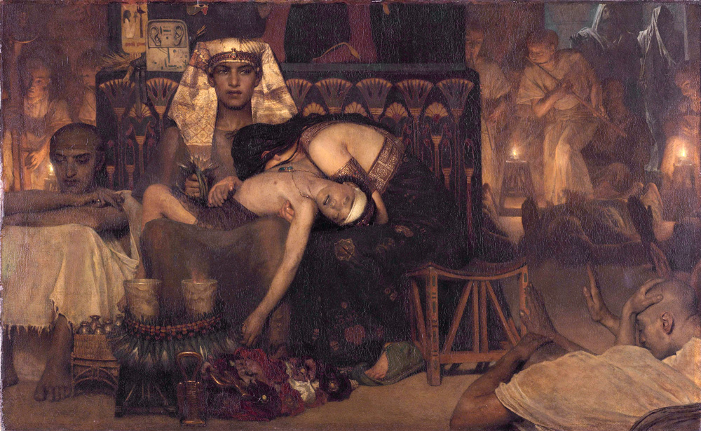 The Death of the Pharaohs Firstborn (1872) - Lawrence Alma-Tadema (Dutch, 1836-1912)