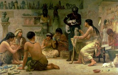 The Gods and their Makers (1878) - Edwin Longsden Long (British, 1829-1891)