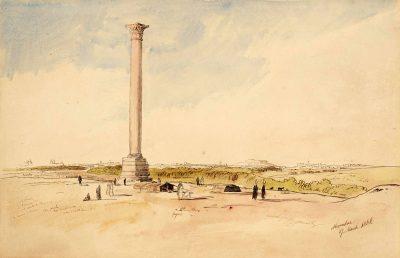 Pompey's Pillar (1858) - Edward Lear (American, 1812-1888)