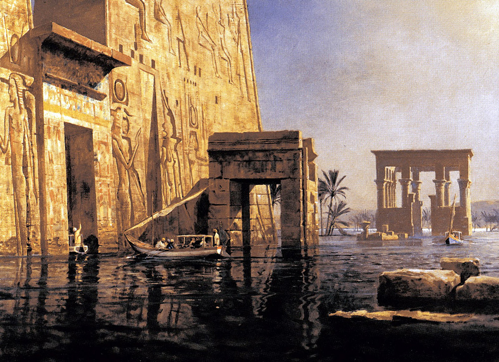 Flooded Egyptian Temple (1910) - Michael Zeno Diemer (German, 1867-1939)