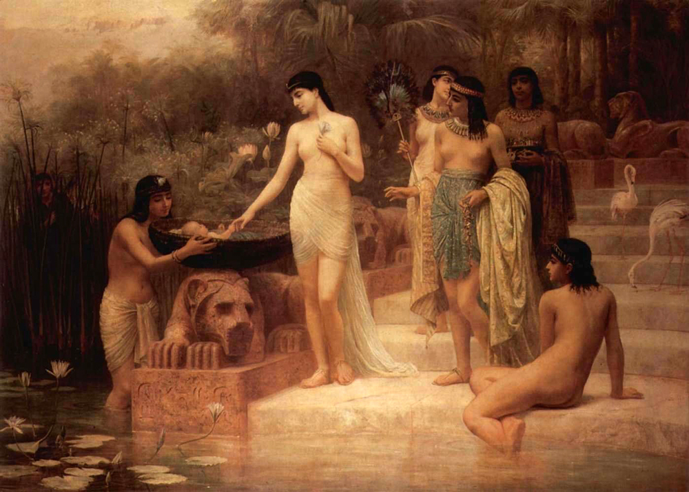 Pharaohs Daughter - The Finding of Moses (1886) - Edwin Longsden Long (British, 1829-1891)