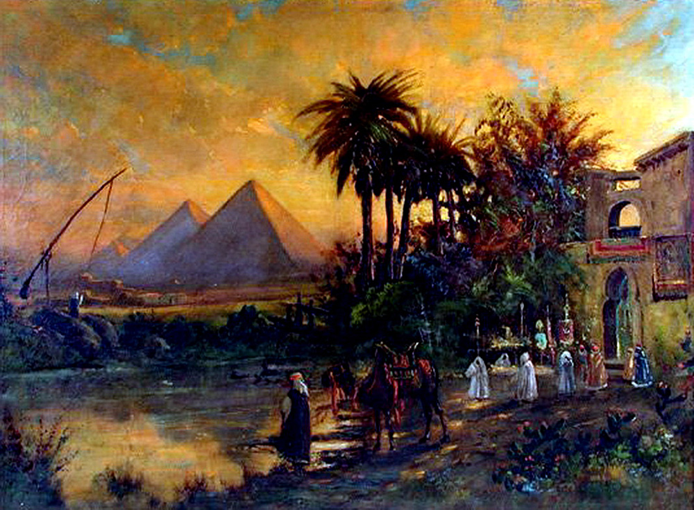 Pyramid Scene - Carl Wuttke (German, 1849-1927)