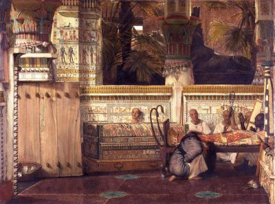 The Egyptian Widow (1872) - Lawrence Alma-Tadema (Dutch, 1836-1912)