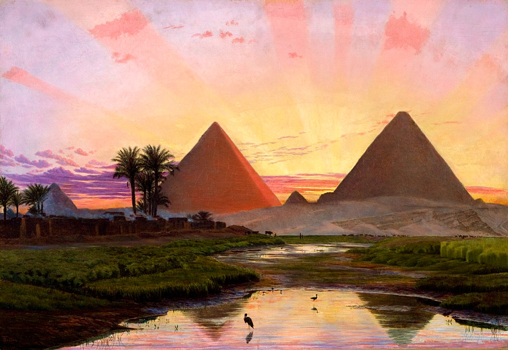 The Pyramids at Gizeh (1855) - Thomas Seddon (British, 1821-1856)