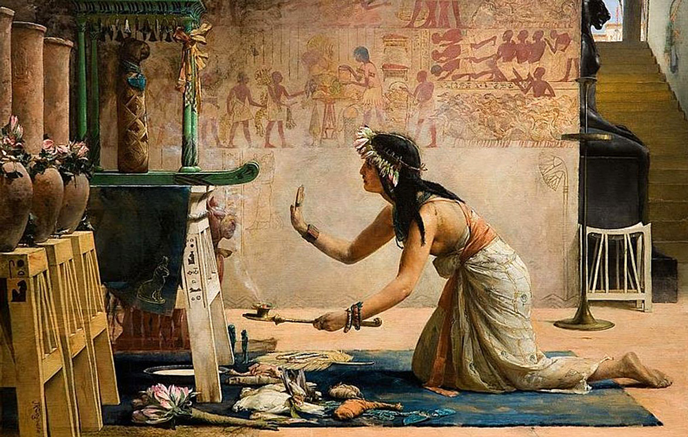 The Obsequies of an Egyptian Cat (1886) - John Reinhard Weguelin (British, 1849-1927)