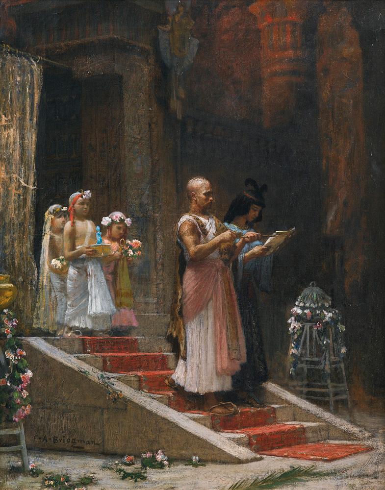 An Egyptian Procession - Arthur Frederick Bridgman (American, 1847-1928)