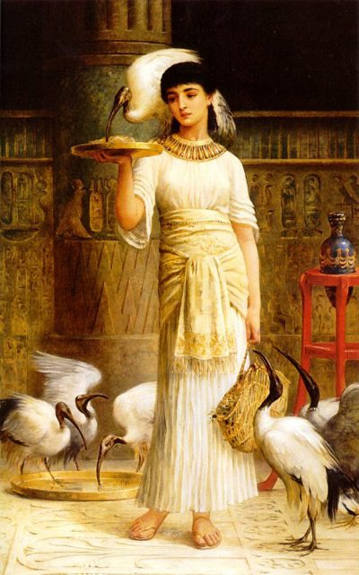 Alethe, Attendant of the Sacred Ibis (1888) - Edwin Longsden Long (British, 1829-1891)