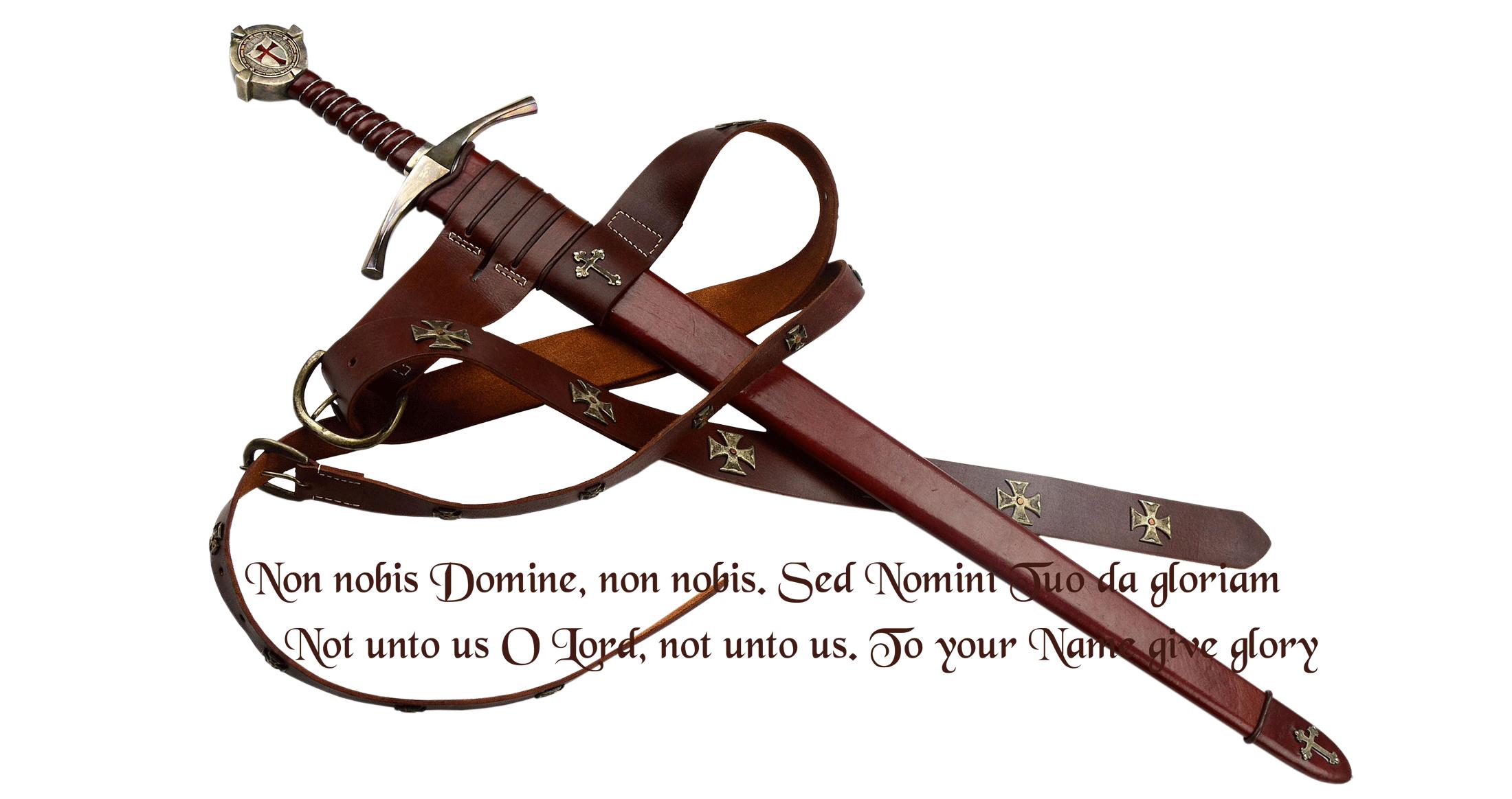 The Templar's Accolade Sword
