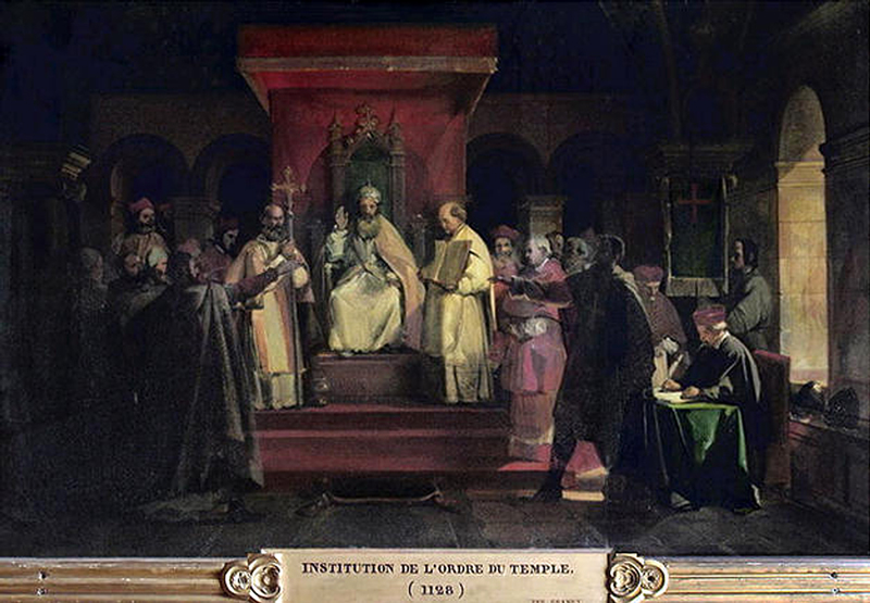 Institution of the Knights Templar Order by Pope Honorius II