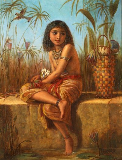 An Egyptian Flower Girl - Frederick Goodall 1870 (British, 1822-1904)